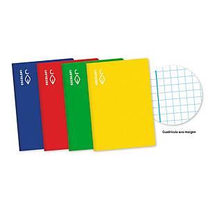 Cuaderno grapado A4 de 50 hojas 70g/m2. Rayado 4x4. Color verde.