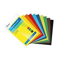 Pack de 10 cartolinas SADIPAL SIRIO A4 170 g/m2 cores sortidas