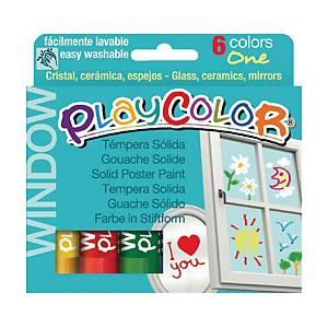 Tempera solida Playcolor Maped in stick colori brillanti assortiti - conf. 6