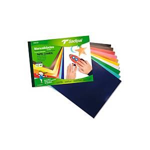 Cuaderno de 10 hojas papel charol para manualidades Sadipal - surtido