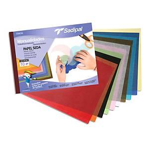 Cuaderno de 10 hojas papel seda para manualidades Sadipal - surtido