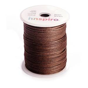Cordón de algodón fino Innspiro - 1 mm x 1 m - marrón