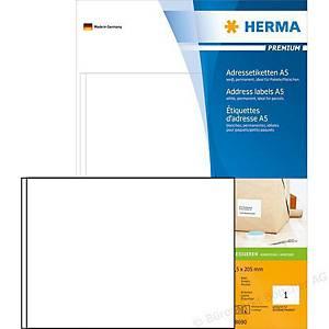 HERMA 8690 premium adresetiketten A5 148,5x205 mm wit - doos van 400 etiketten