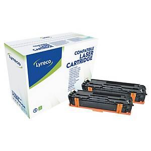 Cartouche de toner Lyreco compatible équivalent HP 131X - CF210XD - noire