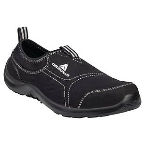 Deltaplus Miami Black Slip On Safety Shoes Black - Size 38
