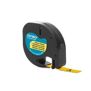 Nastro Dymo per etichettatrice Letratag plastificato 12 mm giallo