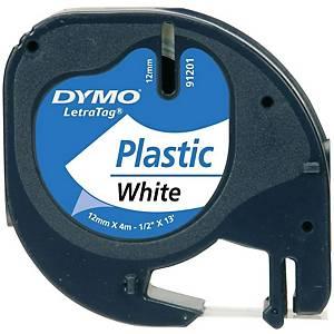 Ruban d écriture DYMO LetraTAG 12 mm x 4 m, blanc