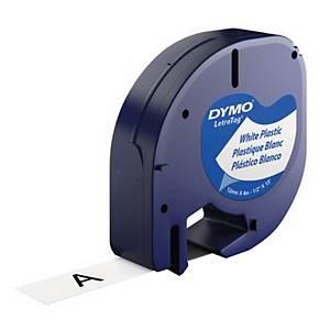 Nastro Dymo per etichettatrice Letratag plastificato 12 mm bianco