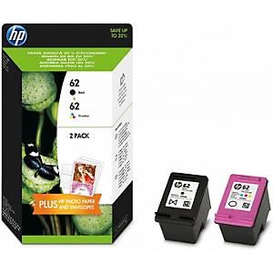 HP N9J71AE ink cartridge nr.62 black+colour- C2P04AE+C2P06AE [200+165 pages]