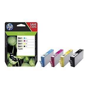 HP 364XL (N9J74AE/CN684-CB323-24-25EE) inkt cartridge, zwart/kleuren