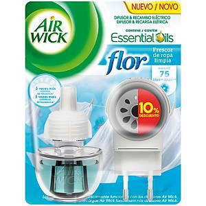 Difusor ambientador eléctrico con recambio Air Wick - 19 ml - aroma Flor
