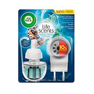 AIR WICK ELEC BLOOM FRESHENER+RFL TURQ