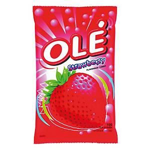 OLE ลูกอมรสสตรอเบอร์รี่ 100 เม็ด/ถุง