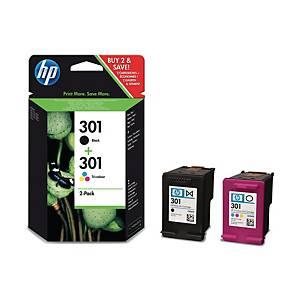 HP N9J72AE COMBO PACK 301 INKJET B/C/M/Y