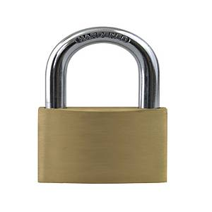 Brass Padlock Open-Shackle 40mm