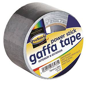Duct Gaffer Cloth tape Silver 75mm 50m Roll