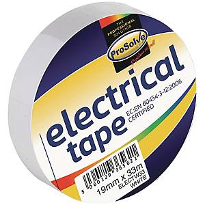 Electrical Insulation Tape 19mm x 33m White