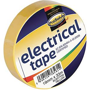 Electrical Insulation Tape 19mm x 33m Yellow