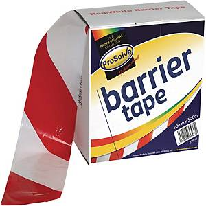 Roll Barrier Zebra Tape Redwhite 70mm 100Mtr Non Adhesive