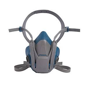 Halbmaskenkörper 3M 6501, Grösse S, Silikon, grau/blau