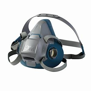 Halbmaskenkörper 3M 6502, Grösse M, Silikon, grau/blau