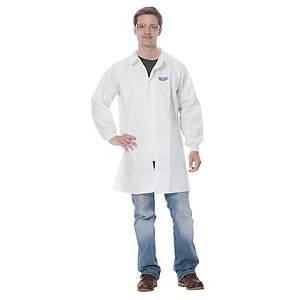 Manteau jetable, 3M 4440, en laminé PE microporeux, taille M, blanc