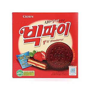 크라운 빅파이 딸기 18입 324g