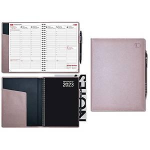 CC 2320 Viikkomuistio Plus pöytäkalenteri 2020 A5, rose