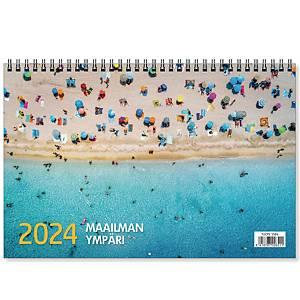 CC 5581 Maailman ympäri seinäkalenteri 2021 300 x 400 mm