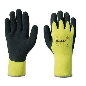 Kälteschutzhandschuhe KCL StoneGrip 692, Gr. 8, schwarz/gelb
