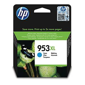 Blækpatron HP 953XL F6U16AE, 1.600 sider, cyan