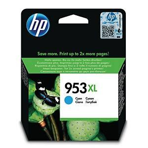 HP 953XL F6U16AE mustesuihkupatruuna syaani