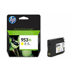 HP 953XL (F6U18AE) inkt cartridge, geel, hoge capaciteit