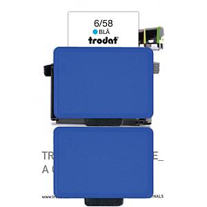 Stempelpude Trodat 6/58, blå, pakke a 2 stk.