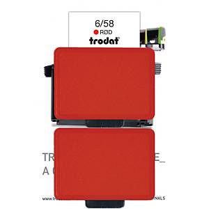 Stempelpude Trodat 6/58, rød, pakke a 2 stk.