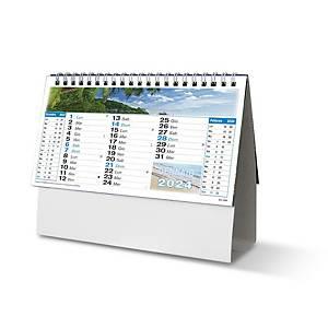 Calendario da tavolo spiralato mensile paesaggi