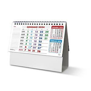Calendario da tavolo spiralato mensile trittico