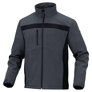Softshellová bunda DELTAPLUS LULEA2, veľkosť XL, sivo-čierna