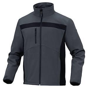 Softshellová bunda DELTAPLUS LULEA2, veľkosť 2XL, sivo-čierna