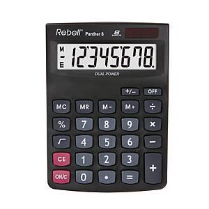 Stolová kalkulačka Rebell Panther, 8-miestny displej, čierna