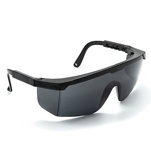 DELIGHT แว่นตานิรภัย P650-A-HD เคลือบกันรอย เลนส์ดำ