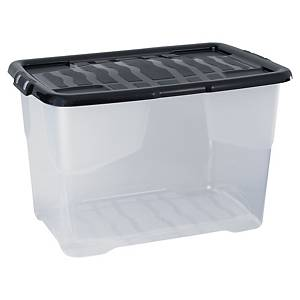 Strata storage box 65L clear
