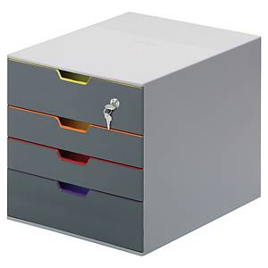DURABLE 7606 VARICOLOR 4 DRAWERS WITH KEY LOCK