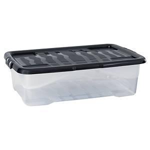 Strata HW201 műanyag, fedeles archiváló doboz, 30 l