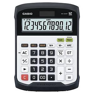 Bordregner Casio WD-320MT, vandtæt, hvid/sort, 12 cifre