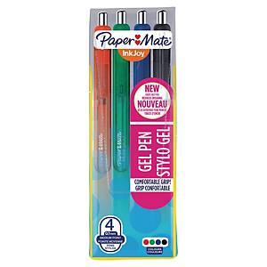 Paper Mate Inkjoy Gel Pen Medium Standard Asst - Pack Of 4