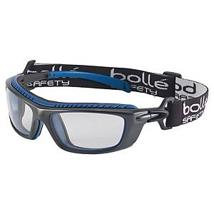 Beskyttelsesbriller Bollé BAXPSI Baxter, med strop, klar/sort/blå
