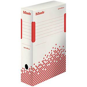 Esselte Speedbox archivační krabice 100 mm bílá/červená, 25 kusů v balení