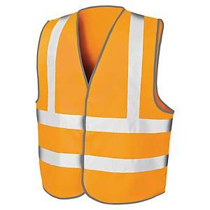 Gilet de sécurité haute visibilité Result Motorway - orange fluo - taille L/XL