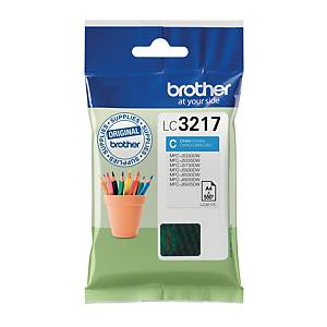 CARTOUCHE JET D ENCRE ORIGINALE BROTHER CYAN LC3217C
